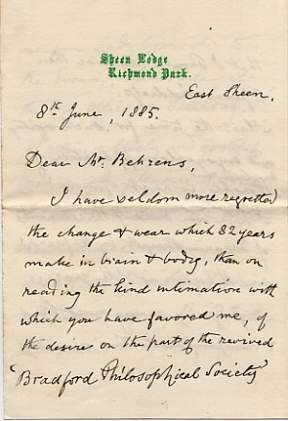 The image is of the first page of one letter.