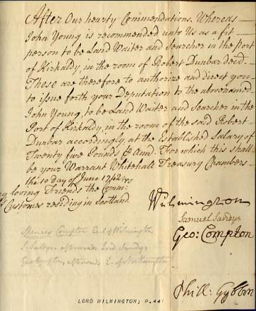 The image is of the document signed by Wilmington.