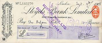 The image may be of a similar cheque.