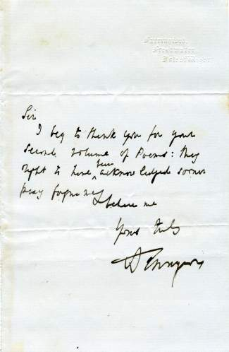 what is the letter tennyson alfred lord letters autographs documents 25564 | pic25564