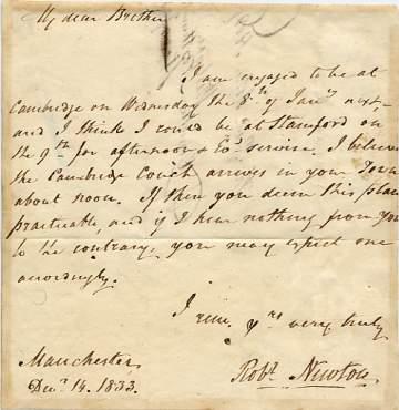NEWTON, Robert, letters, autographs, documents, manuscripts