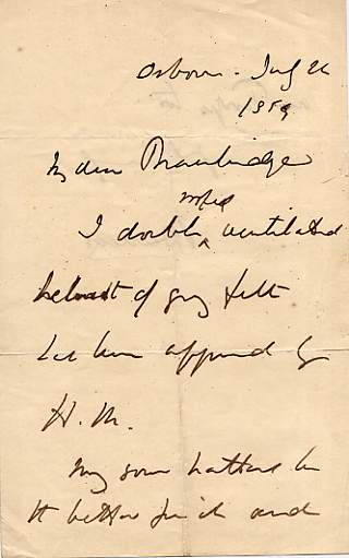 Image of the first page of the autograph letter.