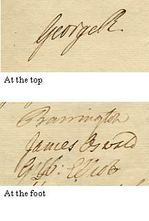 Illustration is of the signatures only